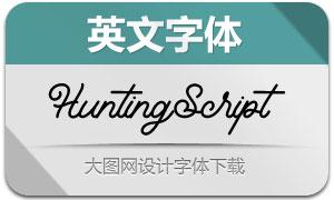 HuntingScript(英文字體)