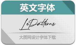 LePatterns(英文字體)