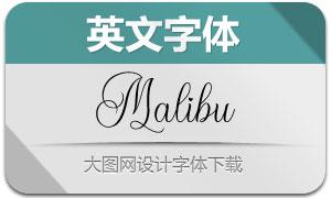 Malibu(英文字體)