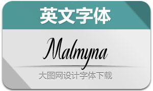 Malmyna(英文字體)