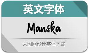 Manska(英文字體)