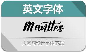 Manttes(英文字體)