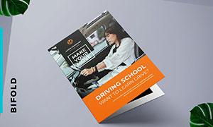 驾校与培训机构等宣传折页模板素材