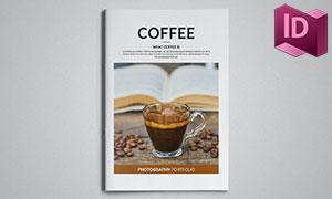 咖啡產品圖冊頁面設計版式模板素材