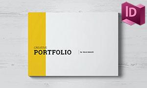 簡約風格作品集等畫冊版式設計模板