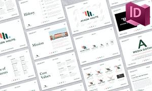 公司品牌指南畫冊圖文版式設計模板
