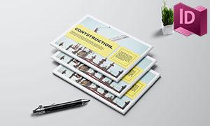 工程建筑公司宣傳畫冊版式設計模板