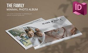 家庭幸福記錄畫冊版式設計模板素材