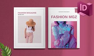 時尚類目雜志畫冊版式設計模板素材