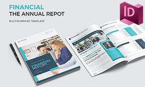 商務金融公司年度報告畫冊版式模板