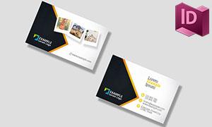 商務名片的正反面版式設計模板素材
