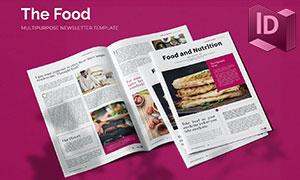 美食與營養膳食等期刊畫冊版式模板