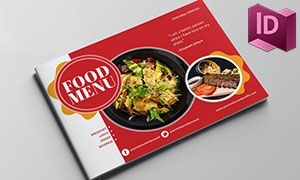 餐廳飯館美食菜單畫冊版式設計模板
