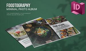 美食記錄攝影畫冊版式設計模板素材