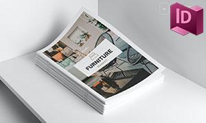 三十余頁家具產品展示畫冊版式模板