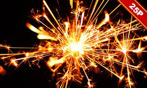 夜晚火花元素圖層疊加高清圖片素材