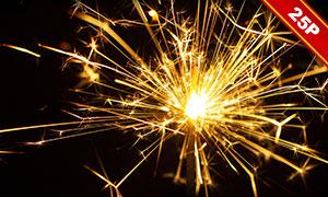 夜晚耀眼光效火花圖層疊加高清圖片