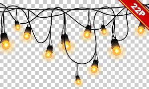 浪漫氛圍營造小燈元素疊加圖片素材