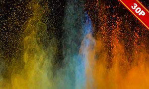 彩色粉末爆炸效果圖層疊加圖片集V01
