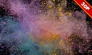 彩色粉末爆炸效果圖層疊加圖片集V02