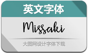 Missaki(英文字体)