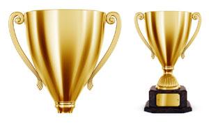 金色奖杯高清摄影图片