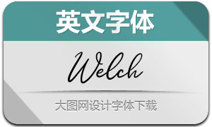Welch(英文字体)