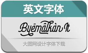 Byemalkan-Italic(Ó¢ÎÄ×Öów)