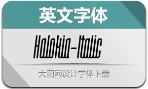 Halokia-Italic(Ó¢ÎÄ×Öów)