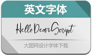 HelloDearScript(Ó¢ÎÄ×Öów)
