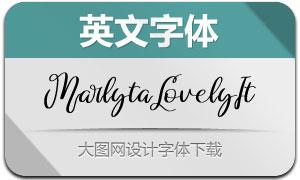 MarlytaLovely-Italic(Ó¢ÎÄ×Öów)