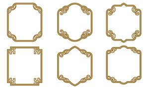 中國風古典花紋邊框設計矢量素材