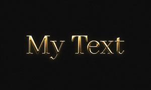 金色光效浮雕樣式文字智能模板素材