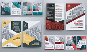 多种用途宣传单正反面设计矢量素材