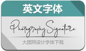 PhotographySignature(英文字体)