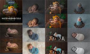 新生儿照片后期美化处理LR预设