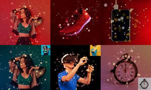 中文版照片添加高光散景特效PS动作