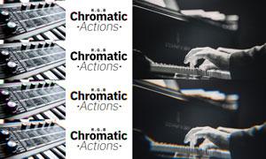 数码照片添加彩色微距特效PS动作