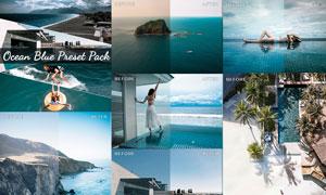 5款海景照片蓝色唯美艺术效果LR预设