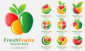 多彩水果图案标志创意设计矢量素材