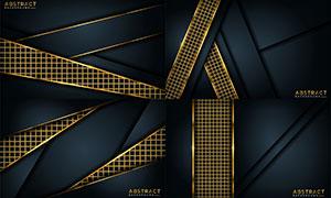 金色网格图案抽象背景创意矢量素材
