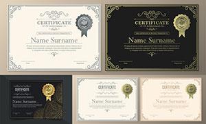 多种多样的授权书与证书等素材V217