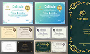 多种多样的授权书与证书等素材V218
