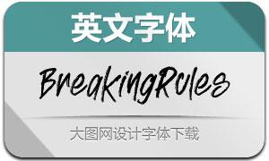 BreakingRules(英文字体)