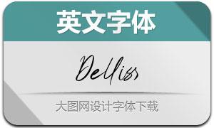 Delliss(英文字体)