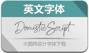 DomesticScript(英文字体)