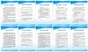 企业安全生产制度牌设计矢量素材