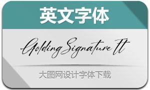 GoldingSignature-Italic(英文字体)