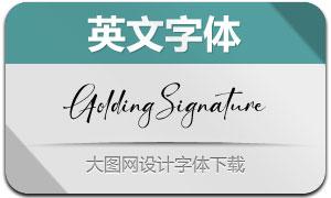GoldingSignature(英文字体)
