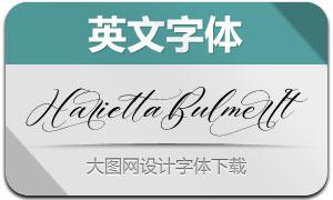 HariettaBulmer-Italic(英文字体)